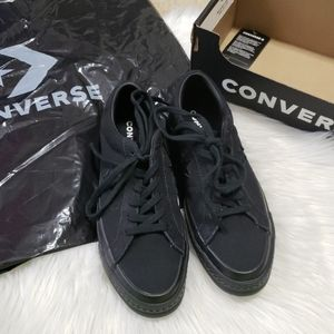 Converse One Star Black Mono Suede Youth Size 5.5